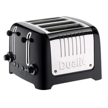 Dualit 46205 4 Slot Lite Toaster in Black Finish
