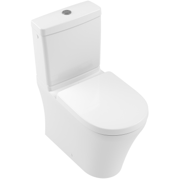 Villeroy & Boch - O.novo Washdown toilet for close-coupled WC-suite, rimless rimless, floor-standing, with DirectFlush, White Alpin