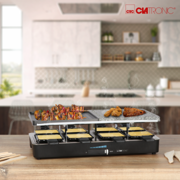 CLATRONIC RG3518 2-in-1 Raclette Grill