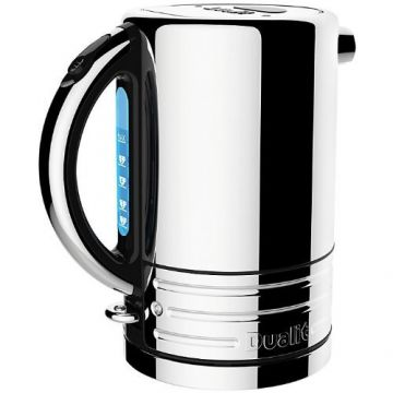 Dualit Architect 1.5L Cordless Kettle, Polished Steel with Black Trim
