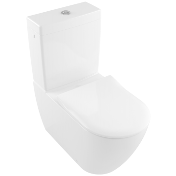 Villeroy & Boch - Subway 2.0 Washdown toilet for close-coupled WC-suite, rimless rimless, floor-standing, with DirectFlush, White Alpin
