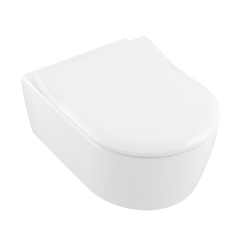 Villeroy & Boch - Avento Toilet seat and cover SlimSeat with automatic lowering mechanism (SoftClosing), with removable seat (QuickRelease), White Alpin