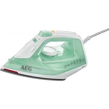 AEG EasyLine DB 1720 Dry & Steam iron Stainless steel soleplate Aqua colour,White 2200 W
