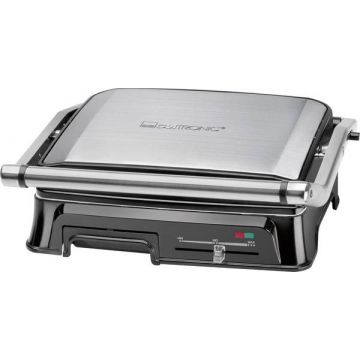 Clatronic KG3571 Electric Grill press Stainless steel, Black