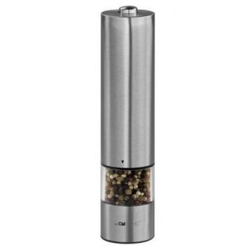 Clatronic Psm 3004 N Bright Pepper Mill In Stainless Steel Adjustable Grain Size Runs On Handy Batteries
