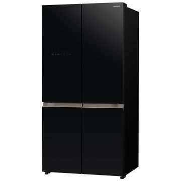 HITACHI 4DOOR FRENCH BOTTOM FREEZER BLACK RWB640VRU0GBK