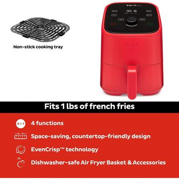 Instant Brands Vortex Mini 4-in-1 Air Fryer 2L - Air Fry, Bake, Roast and Reheat-1300W
