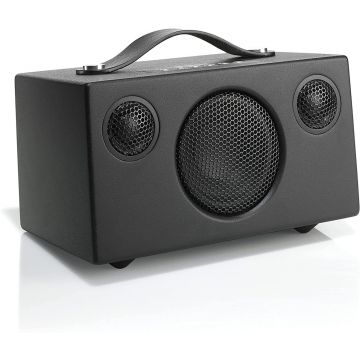 AUDIO T3 BLACK +Wireless Speaker | Portable Multiroom Speaker | Multiroom | WiFi | Bluetooth Speaker | WLAN | Apple Air Play | Spotify Connect  Black