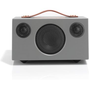 AUDIO PRO T3 GREY+ Wireless Speaker, Portable Multiroom Speaker, Multiroom, Wi-Fi, Bluetooth Speaker, Wi-Fi, Apple Air Play, Spotify Connect, Grey