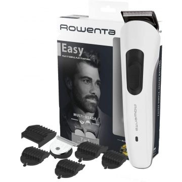 Rowenta Multistyle TN8931 7-in-1 Self-Sharpening Blades for Hair and Beard, Cordless or Wired, 60 Minute Battery Life, Washable Blades