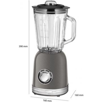 ProfiCook UM 1195 Universal Mixer ANTHRACITE, Powerful 800 Watt Longlife Professional Motor
